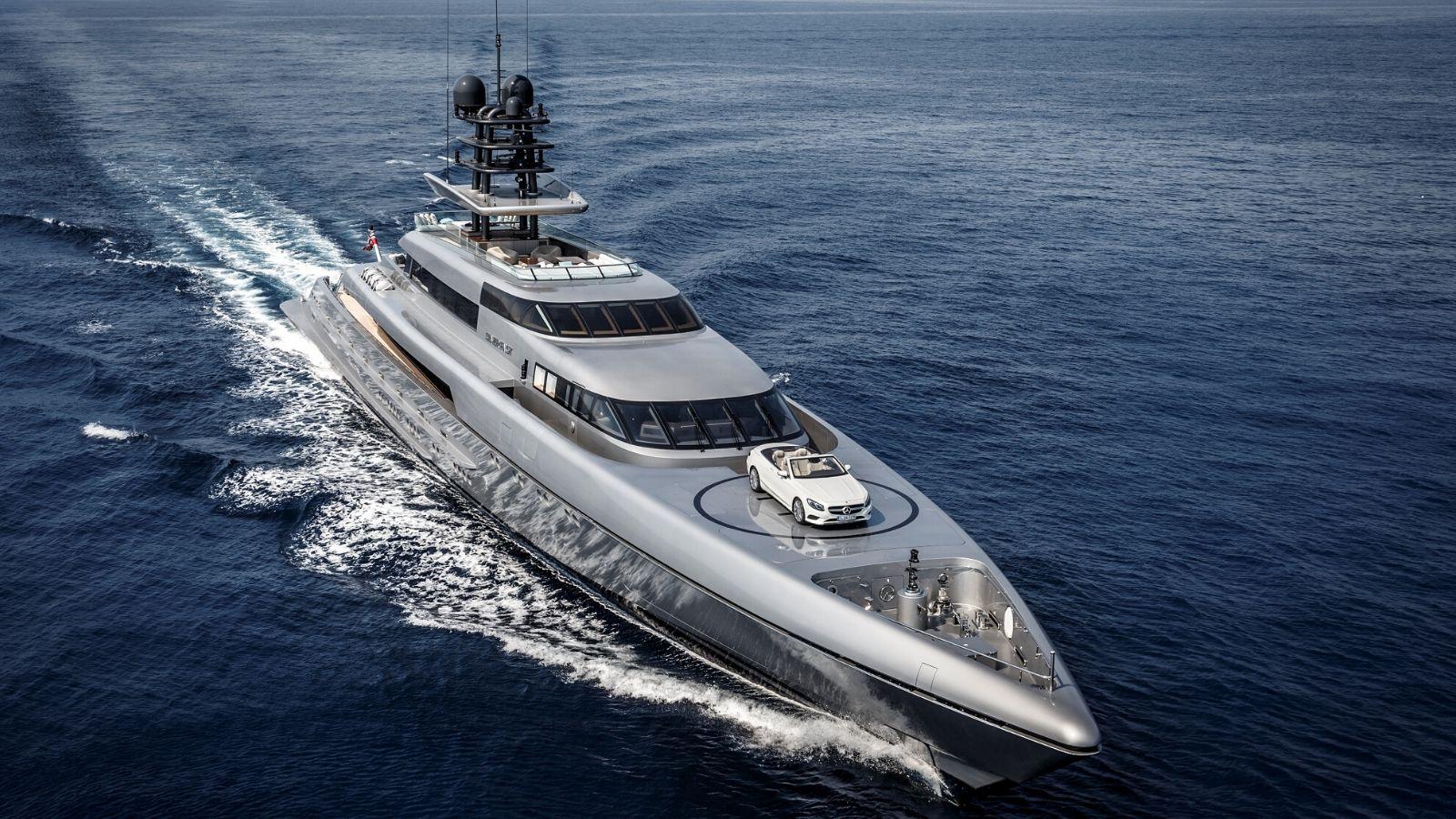 77m Superyacht Silverfast & Mercedes Benz
