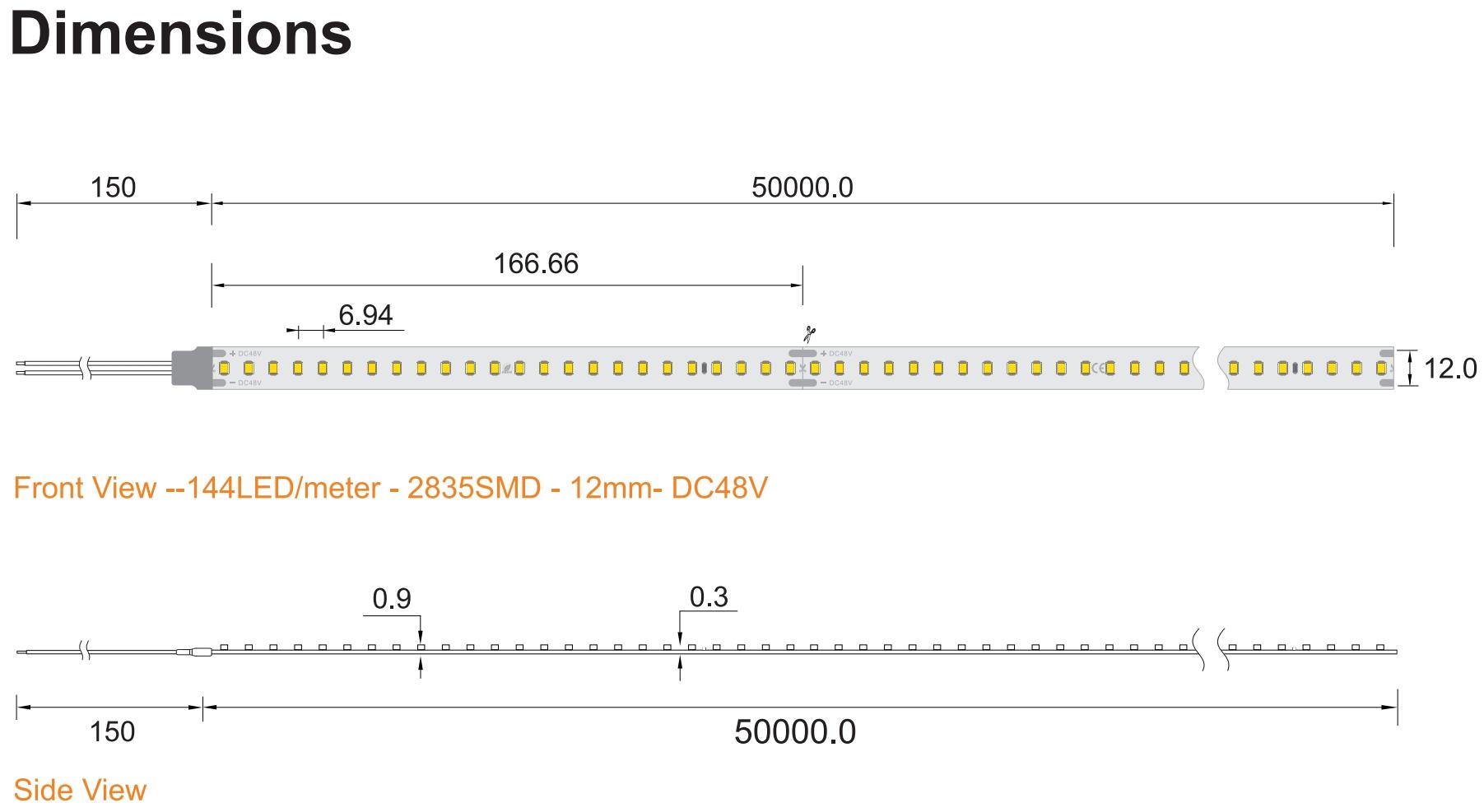 50m 48V LED Strip